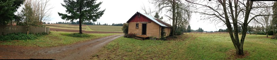 A panorama shot of the farm!